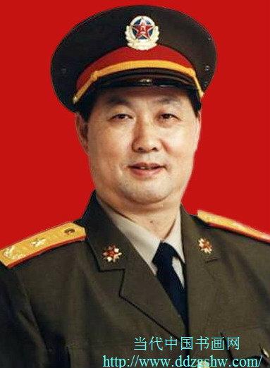 当代著名军旅书法家,少将曹学德图片